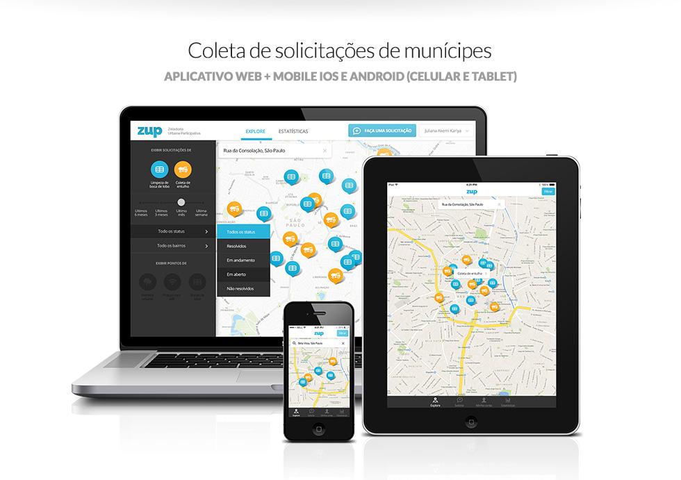 Screenshot das aplicações