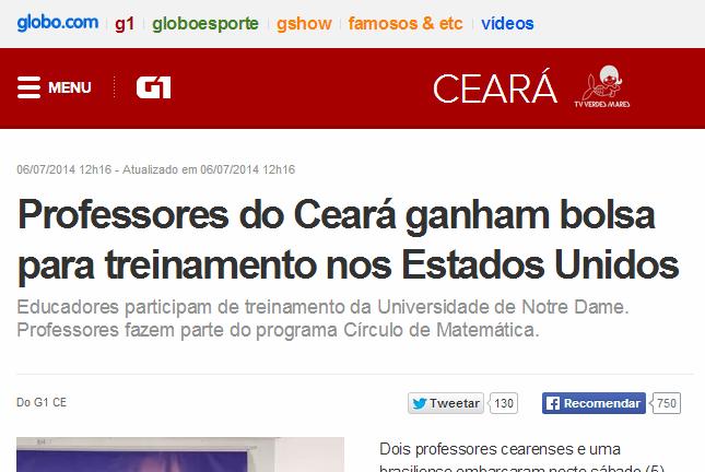 Círculo da Matemática do Brasil - G1 - capa