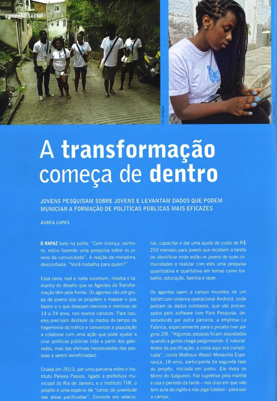 Revista ARede, Agentes da Transformação-1