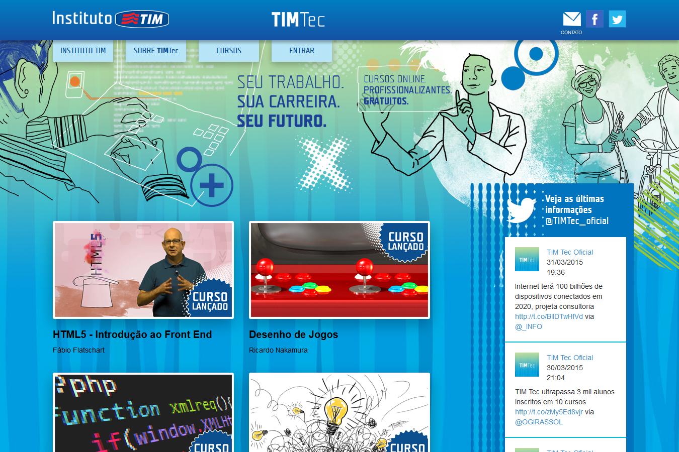 Mais de 3 mil inscritos em TIM Tec