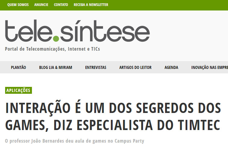 28_01_2016 Telesintese, professor João Bernardes palestra Campus TIM Tec, destacada