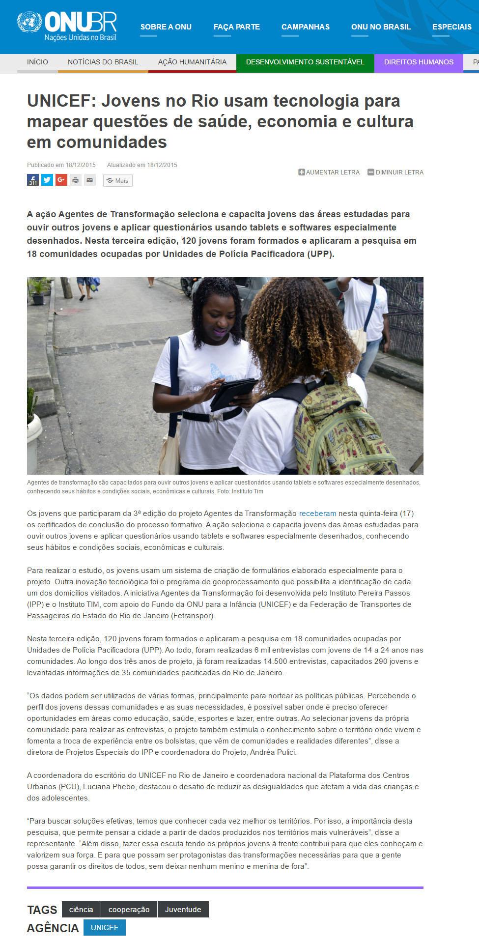 18_12_2015 UNICEF  Jovens no Rio usam tecnologia para mapear questões de saúde  economia e cultura em comunidades   ONU Brasil, editado