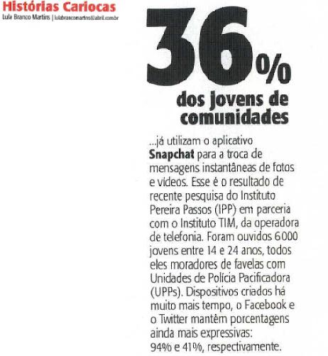 09_04_2016 Veja Rio 36 por cento dos jovens