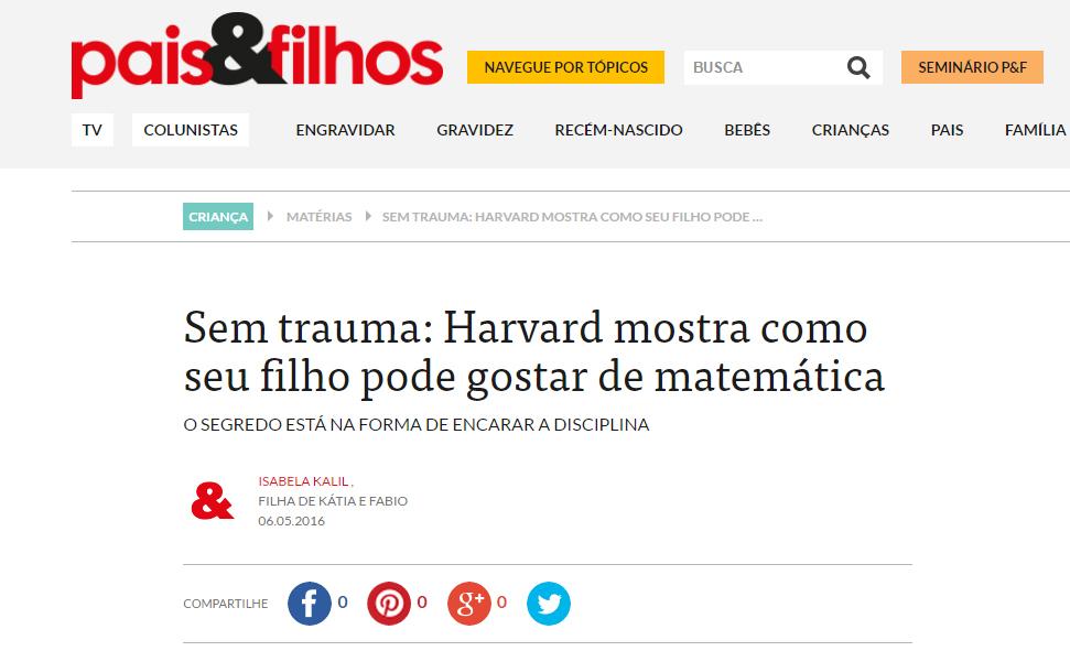 06_05_2016 Sem trauma  Harvard mostra como seu filho pode gostar de matemática   Pais Filhos, parte1b