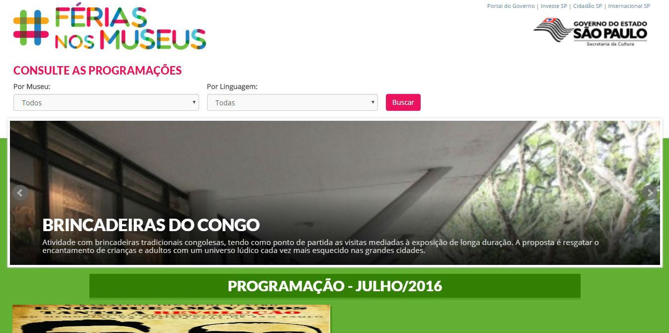 SP: site Férias nos Museus usa Mapas