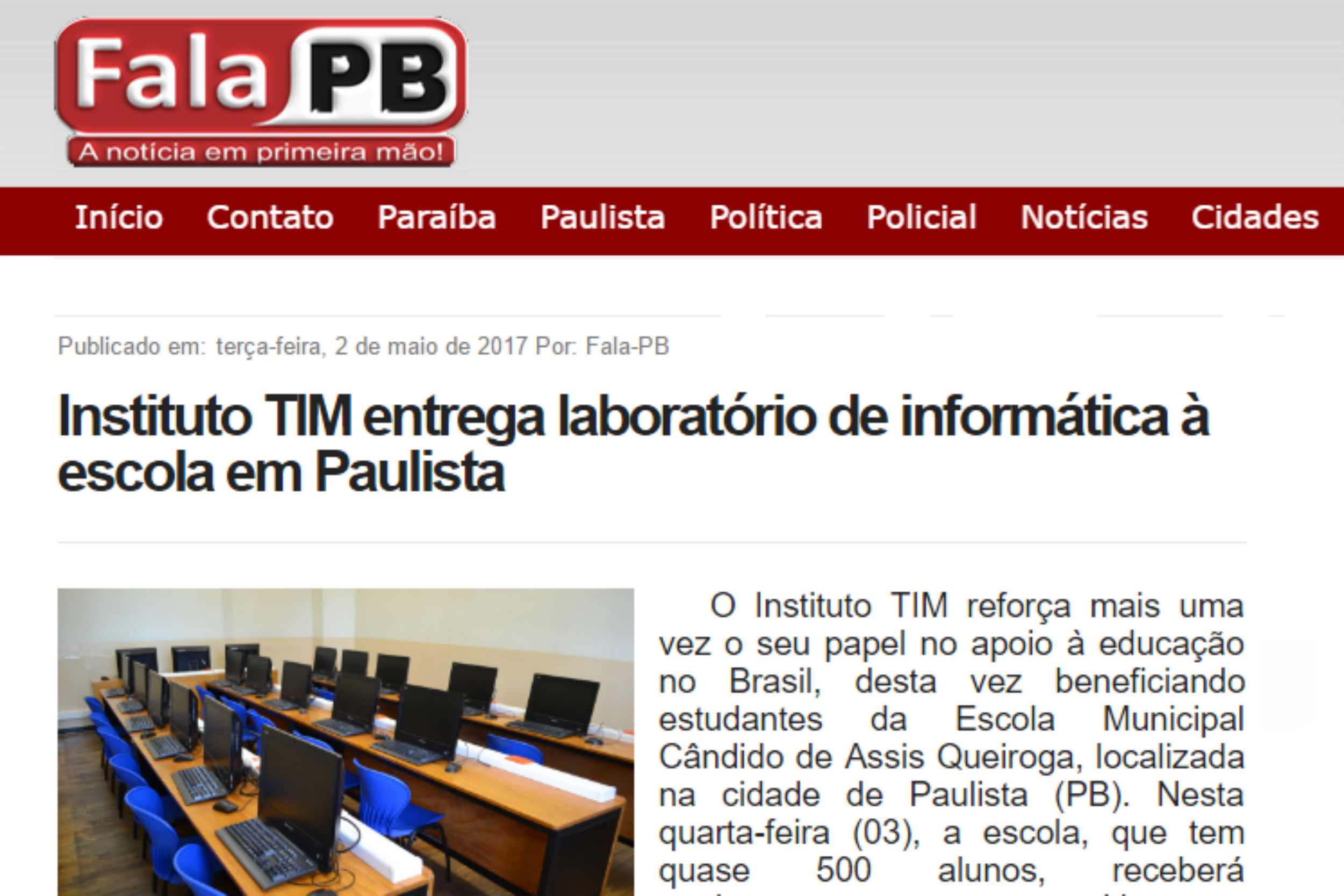 02_05_2017-instituto-tim-entrega-laboratorio-de-informatica-a-escola-em-paulista_fala-pb-imagem-destacada