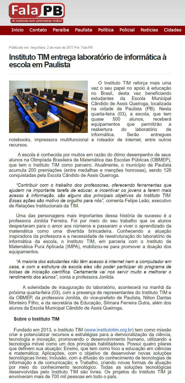 02_05_2017-instituto-tim-entrega-laboratorio-de-informatica-a-escola-em-paulista_fala-pb